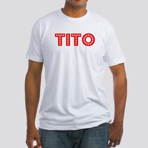 Retro Tito (Red) Fitted T-Shirt
