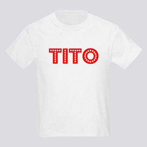 Retro Tito (Red) Kids Light T-Shirt