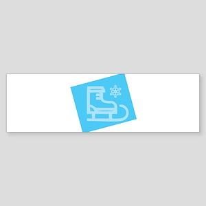 Hockey Skate - Snowflake Bumper Sticker