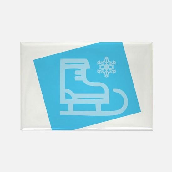 Hockey Skate - Snowflake Magnets