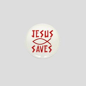 Jesus Saves! Mini Button