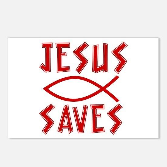 Jesus Saves! Postcards (Package of 8)