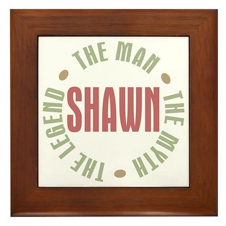 Shawn Man Myth Legend Framed Tile