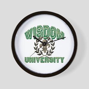 Wisdom Family Name University Wall Clock
