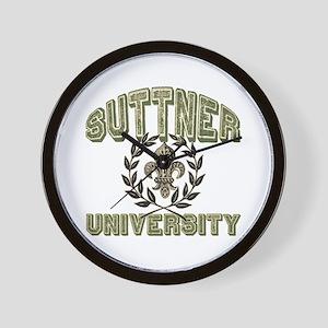 Suttner Family Name University Wall Clock