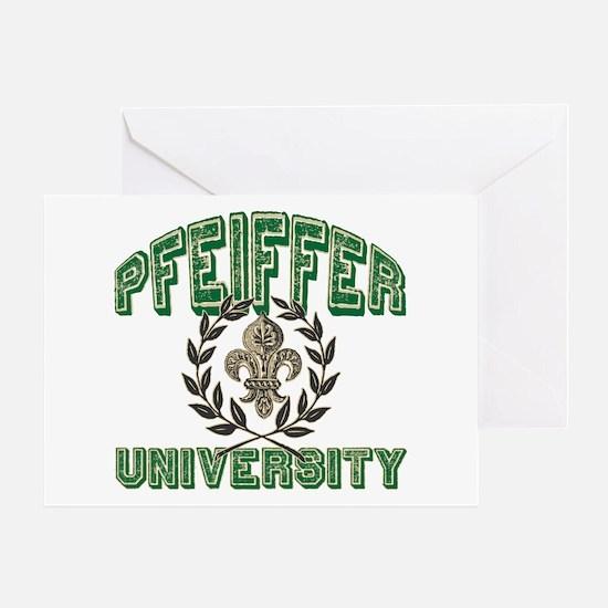 Pfeiffer Family Name University Greeting Card