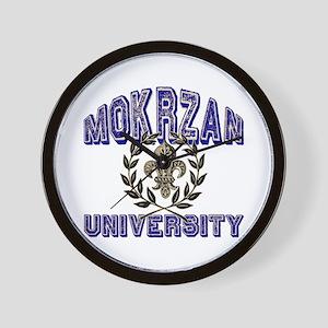 Mokrzan Last Name University Wall Clock