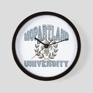 McPartland Last Name University Wall Clock
