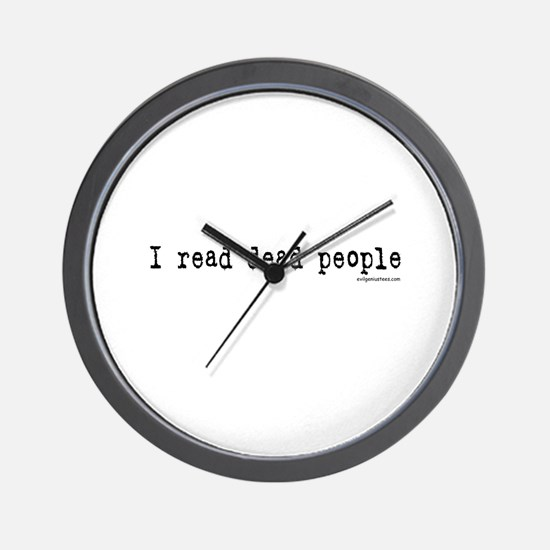 I read dead people Wall Clock