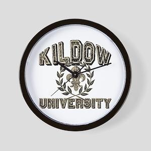 Kildow Family Name University Wall Clock