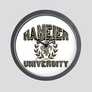 Hameier Last Name University Wall Clock