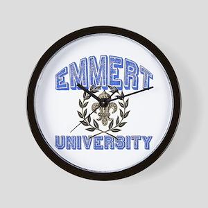 Emmert Last Name University Wall Clock