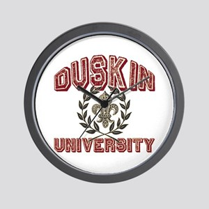 Duskin Family Name University Wall Clock