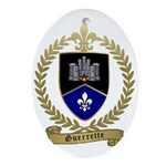 GUERRETTE Family Crest Oval Ornament