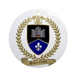 GUERRETTE Family Crest Ornament (Round)