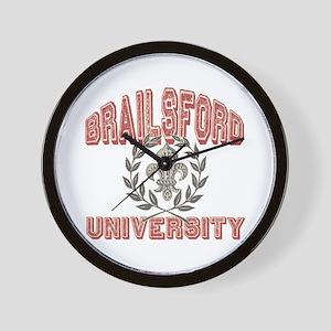 Brailsford Last Name University Wall Clock