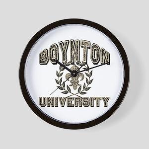 Boynton Family Name University Wall Clock