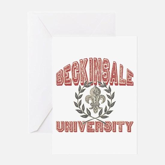 Beckinsale Last Name University Greeting Card