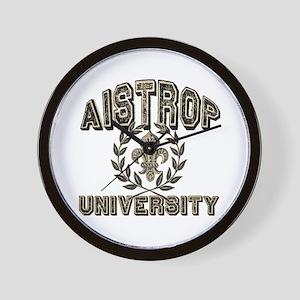 Aistrop Last Name University Wall Clock