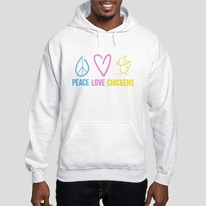 peace, love, chicken Sweatshirt