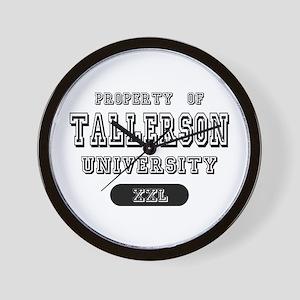 Tallerson Family Name University Wall Clock