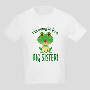 Big Sister Frog Kids Light T-Shirt