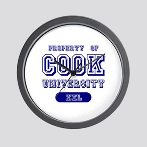 Property of Cook University Name Wall Clock