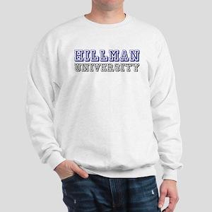 Hillman Family Name University Sweatshirt