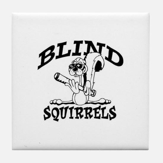 Blind Squirrels Tile Coaster Old School Colors