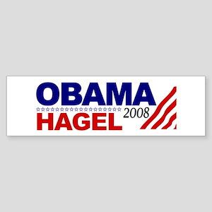Obama Hagel 08 Bumper Sticker