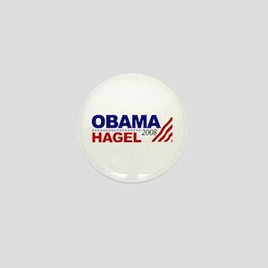 Obama Hagel 08 Mini Button