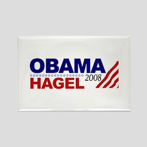 Obama Hagel 08 Rectangle Magnet