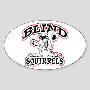 Blind Squirrel Oval Sticker
