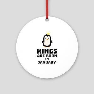 kings born in JANUARY C4qdv Round Ornament