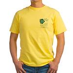 Railway Express Yellow T-Shirt -Image Front + Back