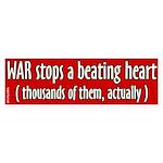 Stops a beating heart bumper sticker