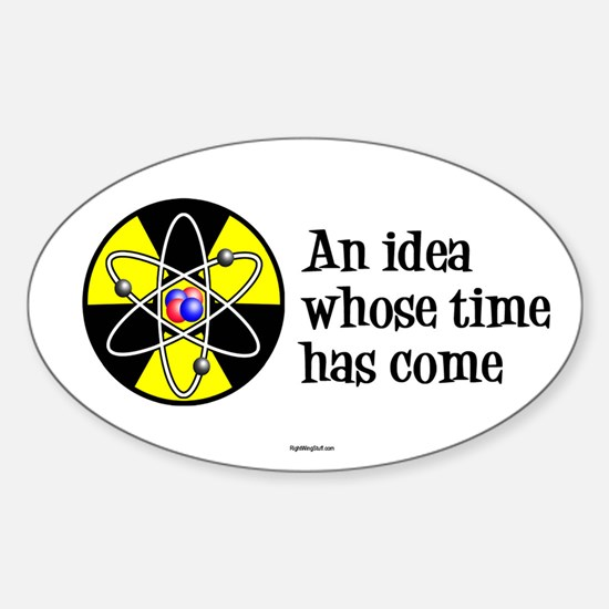 Time Has Come II Oval Decal