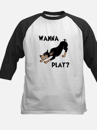 Wanna Play? Kids Baseball Jersey