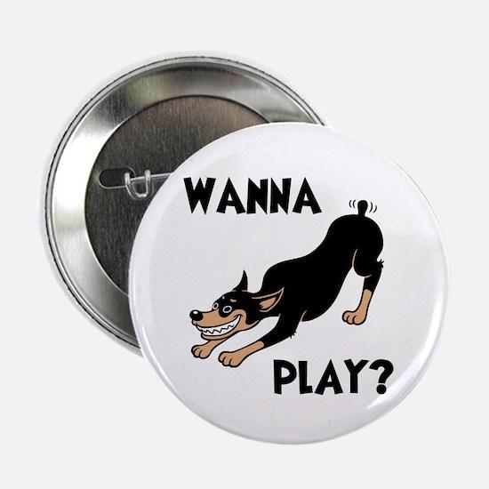 """Wanna Play? 2.25"""" Button"""