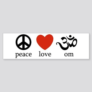 Peace Love Om Bumper Sticker