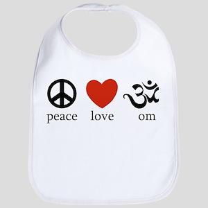Peace Love Om Bib