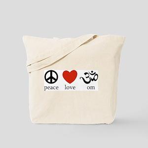 Peace Love Om Tote Bag