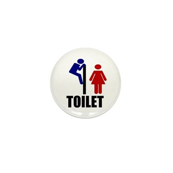 Toilet Peek Mini Button
