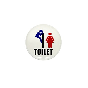 Toilet Peek Mini Button (10 pack)