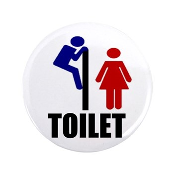 "Toilet Peek 3.5"" Button"