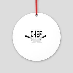 CHEF Round Ornament