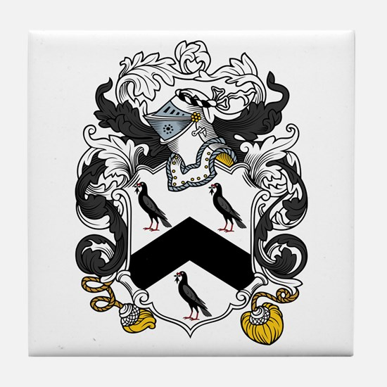 Williams Family Crest Tile Coaster