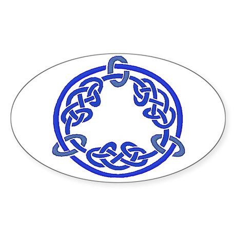 Celtic Knot 116 Oval Sticker