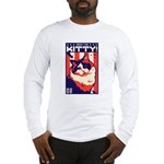 Obey the Kitty! USA Long Sleeve T-Shirt