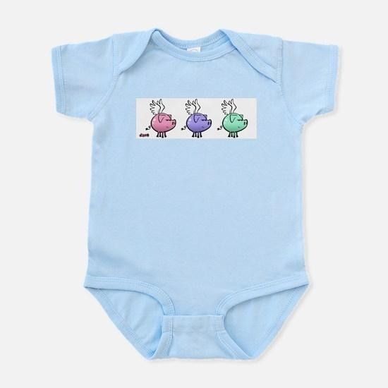 Skuzzo Flying Pig Infant Creeper